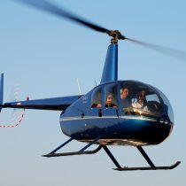 R44 Helicopter flying a trial lesson